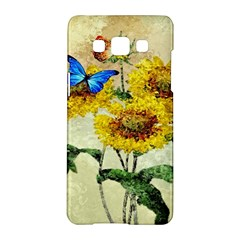 Backdrop Colorful Butterfly Samsung Galaxy A5 Hardshell Case