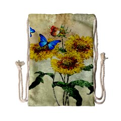 Backdrop Colorful Butterfly Drawstring Bag (small)
