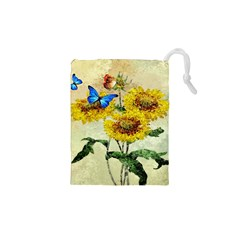 Backdrop Colorful Butterfly Drawstring Pouches (XS)