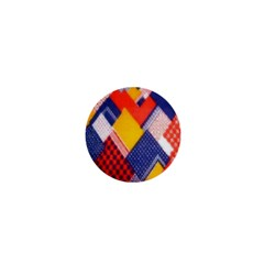 Background Fabric Multicolored Patterns 1  Mini Magnets