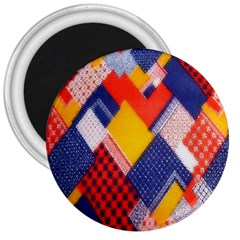 Background Fabric Multicolored Patterns 3  Magnets