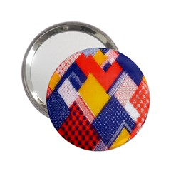 Background Fabric Multicolored Patterns 2 25  Handbag Mirrors