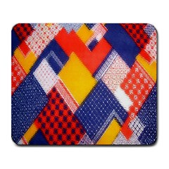 Background Fabric Multicolored Patterns Large Mousepads
