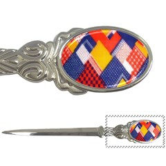 Background Fabric Multicolored Patterns Letter Openers