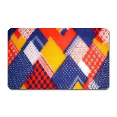 Background Fabric Multicolored Patterns Magnet (rectangular)