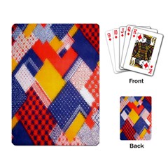 Background Fabric Multicolored Patterns Playing Card