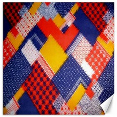 Background Fabric Multicolored Patterns Canvas 12  x 12