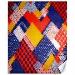 Background Fabric Multicolored Patterns Canvas 16  x 20