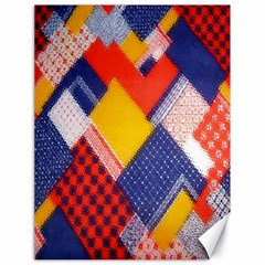 Background Fabric Multicolored Patterns Canvas 18  x 24