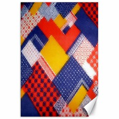 Background Fabric Multicolored Patterns Canvas 20  x 30
