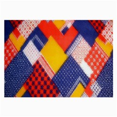 Background Fabric Multicolored Patterns Large Glasses Cloth