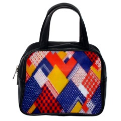 Background Fabric Multicolored Patterns Classic Handbags (One Side)