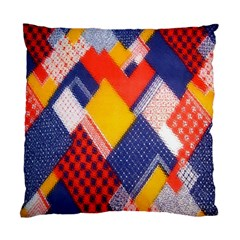Background Fabric Multicolored Patterns Standard Cushion Case (One Side)