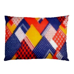 Background Fabric Multicolored Patterns Pillow Case