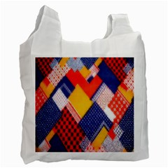 Background Fabric Multicolored Patterns Recycle Bag (One Side)