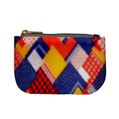 Background Fabric Multicolored Patterns Mini Coin Purses