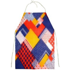 Background Fabric Multicolored Patterns Full Print Aprons