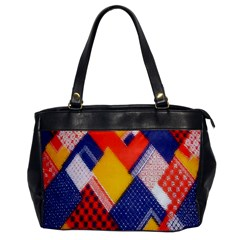 Background Fabric Multicolored Patterns Office Handbags