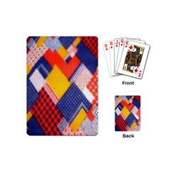 Background Fabric Multicolored Patterns Playing Cards (Mini)