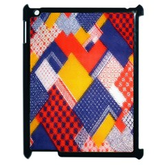 Background Fabric Multicolored Patterns Apple iPad 2 Case (Black)