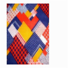 Background Fabric Multicolored Patterns Small Garden Flag (Two Sides)
