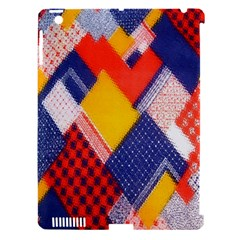 Background Fabric Multicolored Patterns Apple iPad 3/4 Hardshell Case (Compatible with Smart Cover)