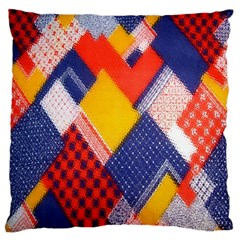Background Fabric Multicolored Patterns Large Cushion Case (Two Sides)