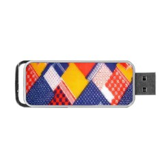 Background Fabric Multicolored Patterns Portable Usb Flash (one Side)