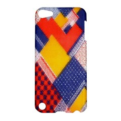 Background Fabric Multicolored Patterns Apple iPod Touch 5 Hardshell Case