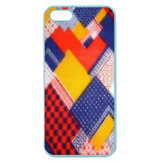 Background Fabric Multicolored Patterns Apple Seamless Iphone 5 Case (color)