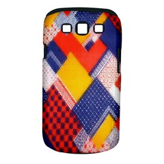 Background Fabric Multicolored Patterns Samsung Galaxy S Iii Classic Hardshell Case (pc+silicone)