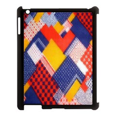 Background Fabric Multicolored Patterns Apple iPad 3/4 Case (Black)