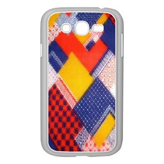 Background Fabric Multicolored Patterns Samsung Galaxy Grand DUOS I9082 Case (White)