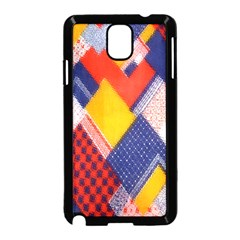 Background Fabric Multicolored Patterns Samsung Galaxy Note 3 Neo Hardshell Case (Black)