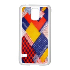 Background Fabric Multicolored Patterns Samsung Galaxy S5 Case (white)