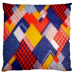 Background Fabric Multicolored Patterns Standard Flano Cushion Case (one Side)