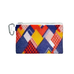 Background Fabric Multicolored Patterns Canvas Cosmetic Bag (S)