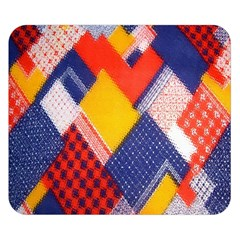 Background Fabric Multicolored Patterns Double Sided Flano Blanket (small)
