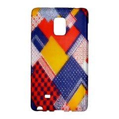 Background Fabric Multicolored Patterns Galaxy Note Edge