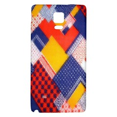 Background Fabric Multicolored Patterns Galaxy Note 4 Back Case