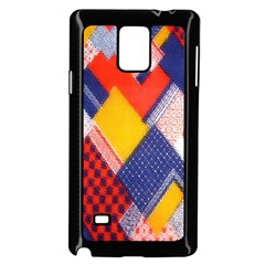 Background Fabric Multicolored Patterns Samsung Galaxy Note 4 Case (black)