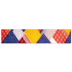Background Fabric Multicolored Patterns Flano Scarf (small)