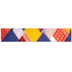 Background Fabric Multicolored Patterns Flano Scarf (Large)