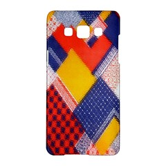 Background Fabric Multicolored Patterns Samsung Galaxy A5 Hardshell Case