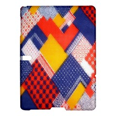 Background Fabric Multicolored Patterns Samsung Galaxy Tab S (10 5 ) Hardshell Case