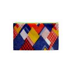 Background Fabric Multicolored Patterns Cosmetic Bag (xs)