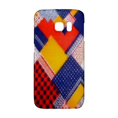 Background Fabric Multicolored Patterns Galaxy S6 Edge