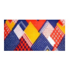 Background Fabric Multicolored Patterns Satin Wrap