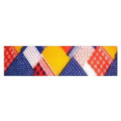 Background Fabric Multicolored Patterns Satin Scarf (Oblong)