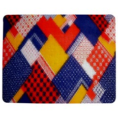 Background Fabric Multicolored Patterns Jigsaw Puzzle Photo Stand (Rectangular)